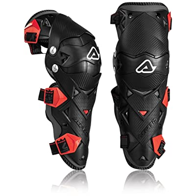 Acerbis Impact EVO Knee/Shin Guards (BLACK/RED) by Acerbis: Automotive