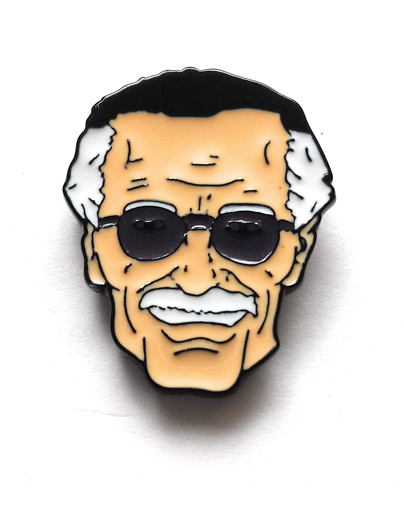 Stan Lee Enamel Pin by 44Cloverdale