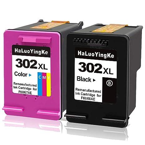 HaLuoYingKe - Cartucho de Tinta Compatible con HP 302 302XL para ...