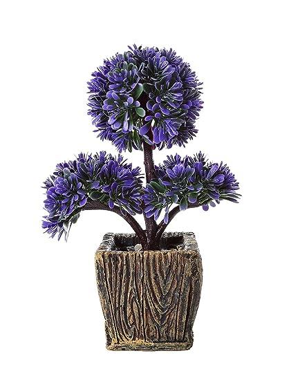 "miracliy 10 ""de mesa Artificial en maceta plantas pequeñas sintético decoración Bonsai para Casa"