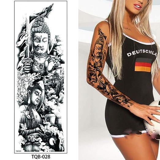 Zhuhuimin 3 unids Brazo Completo Etiqueta engomada del Tatuaje ...