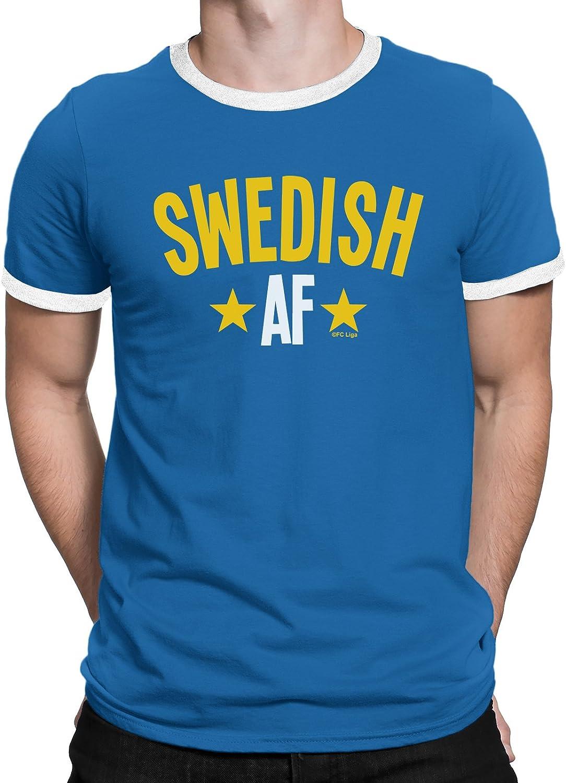 SVERIGE SWEDEN Mens T-Shirt FOOTBALL World Cup 2018 New Retro Square