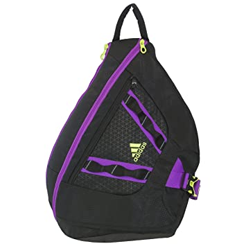 adidas Capital Sling Backpack, Black Solar Yellow Flash Pink, One Size c65fb2a8cc