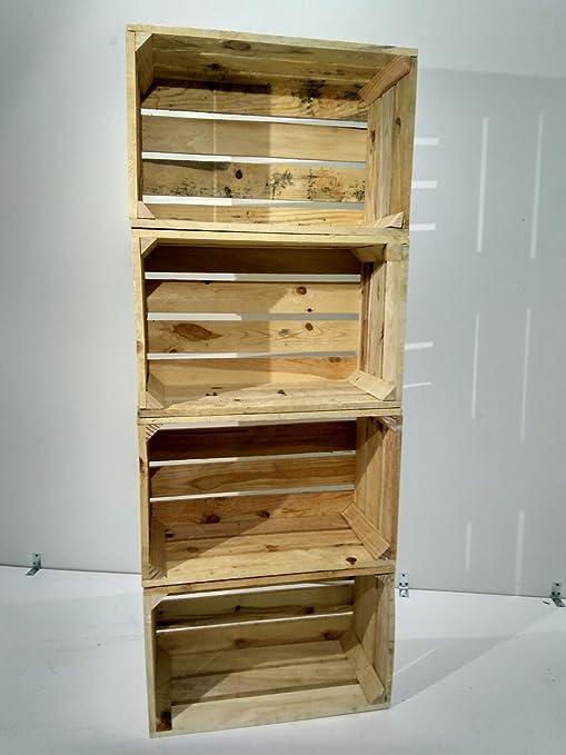 Set 4 Cajas DE Madera Pino Natural Vintage: Amazon.es: Juguetes y ...