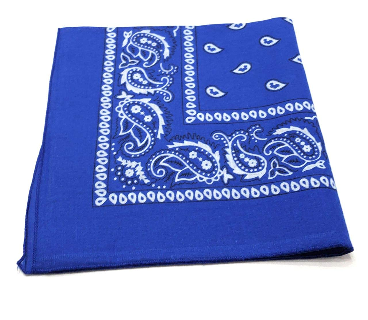 By M.H.I. 24 Pack Paisley 100/% Cotton Double Sided Bandanas