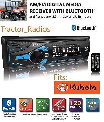 Kubota Tractor Radio Estéreo MP3 AM FM USB AUX Bluetooth Remoto ...