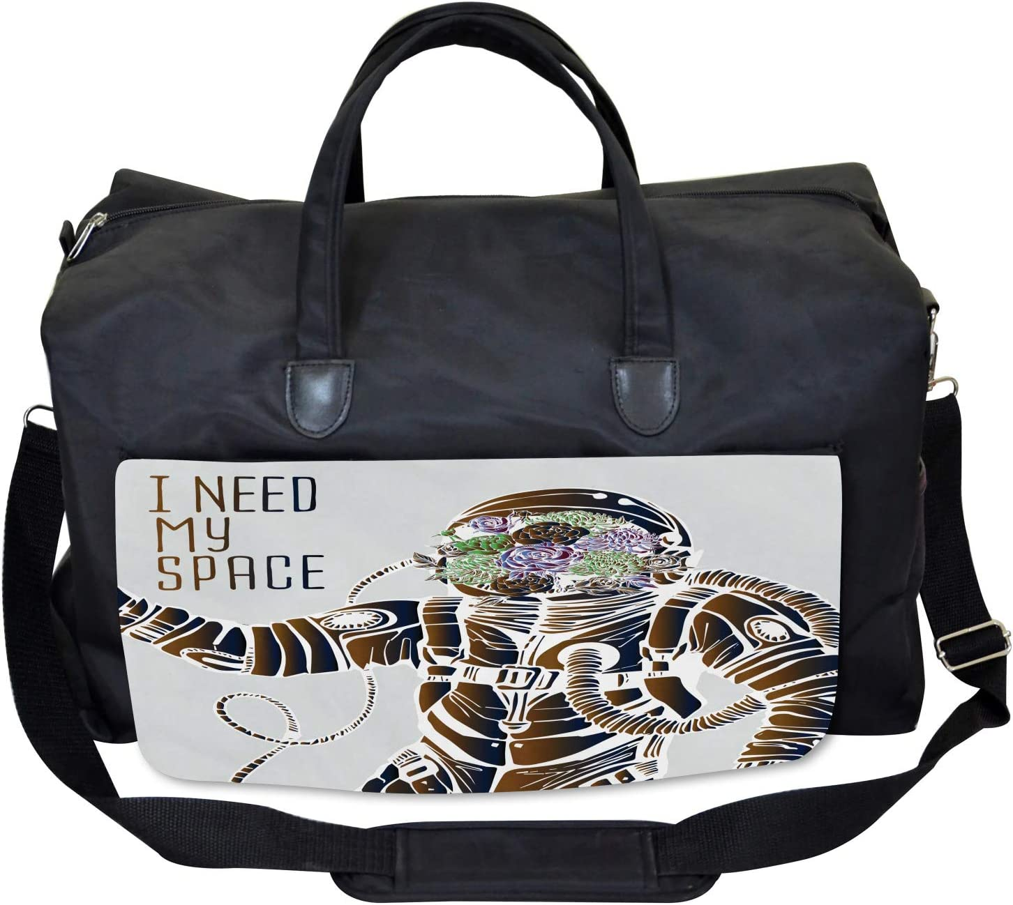 Large Weekender Carry-on Pilot Man Illustration Ambesonne Nebula Gym Bag