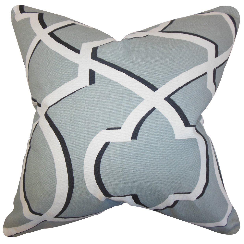 The枕コレクションp20-pp-marrow-coolgrey-c55-l45 Curan幾何枕、グレー、20