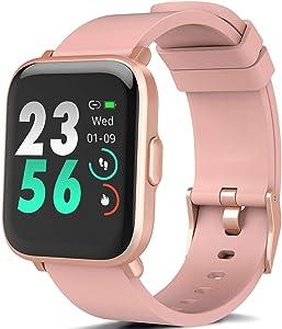 MorePro Smart Watch 18 Sport Modes Activity Tracker Heart Rate Fitness Watch Blood Oxygen Monitor Sleep Tracker Calories Pedometer Waterproof Smart Band Sports Bracelet for Men, Women, Kids