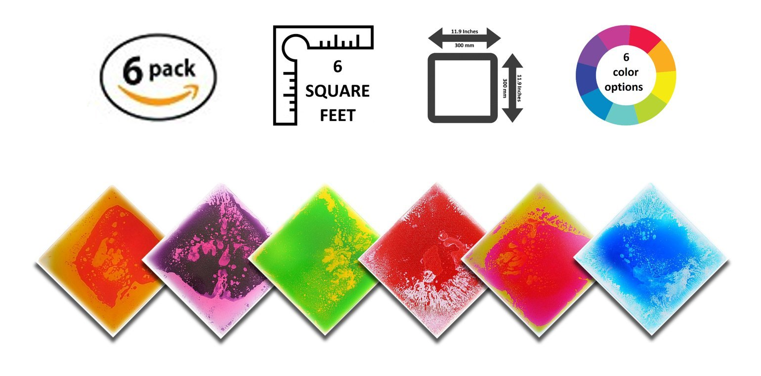 Liquid Floor Tile Six Pack - By Playlearn (Mixed Color) 30 x 30