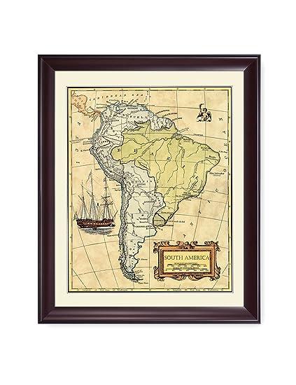 Amazon Com Decorarts South America Map Ancient Map Giclee Print