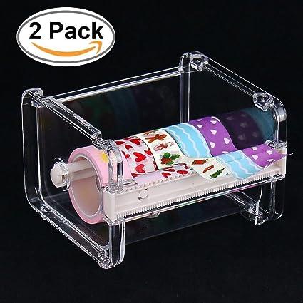 2pcs homdsim cinta adhesiva dispensador cortador, rollo de cinta Holder Organizador, cinta de carrocero