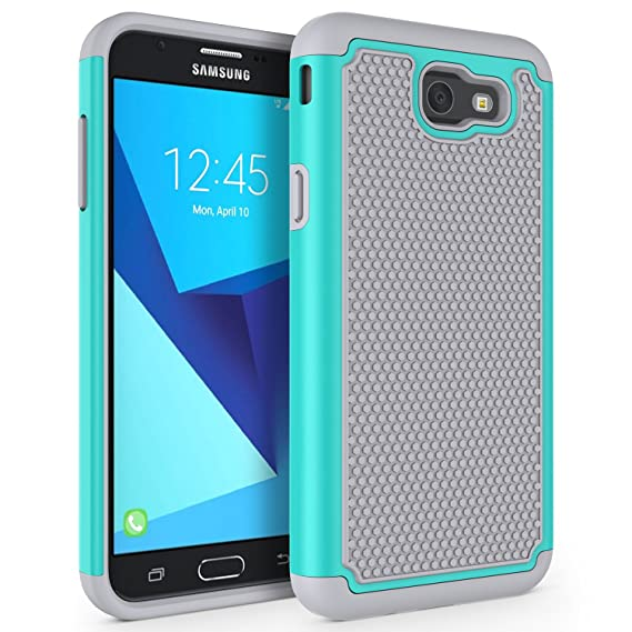 online store 67055 4a5d7 Case for Samsung Galaxy J7 V 2017 (1st Gen)/ Galaxy J7 2017 / Galaxy J7  Prime/Galaxy J7 Perx/Galaxy J7 Sky Pro/Galaxy Halo, SYONER [Shockproof] ...