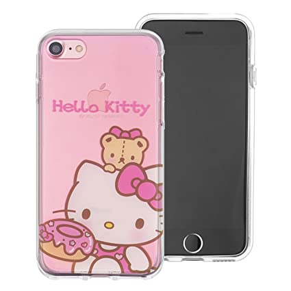 low priced 92f09 34559 iPhone SE/iPhone 5S / iPhone 5 Case Hello Kitty Cute Pink Clear Jelly Cover  for [ Apple iPhone SE / 5S / 5 ] Case - Sweety Hello Kitty