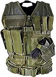 NcStar タクティカルベスト ラージ (XXL-5XL) Tactical Vest Swat Police Large (Green) [並行輸入品]