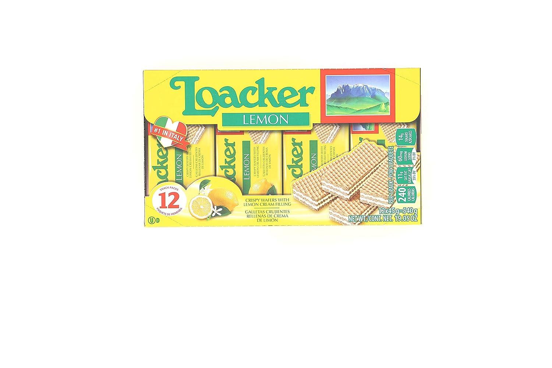 Loacker Premium Lemon Wafers, 45g/1.59oz, pack of 12