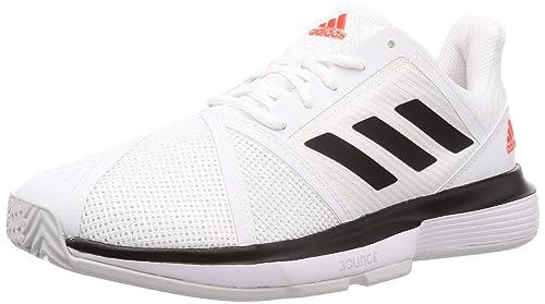 Alfombra Conquista tragedia  Buy Adidas Men's Courtjam Bounce M Ftwwht/Cblack/Lgsogr Tennis Shoes - 9 UK  (43 EU) (EE4320) at Amazon.in