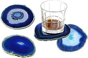 AMOYSTONE Blue Stone Coaster 3.5-4