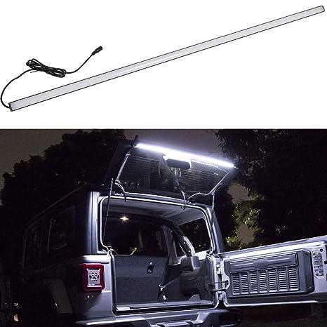 Danti Fit For Jeep Wrangler 2007-2018 JK JKU JL JLU LED Tailgate Windshield  Rear Glass Lift Gate Dome Light Bar