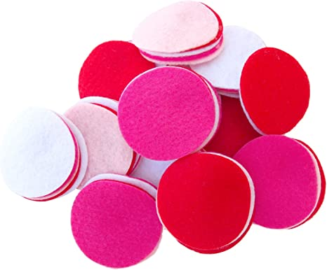 Playfully Ever After Light Pink 3//4 to 4 Inch Assorted Sizes 56pc Felt Circles