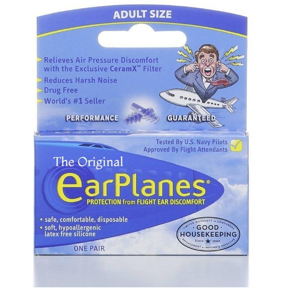 EarPlanes Ear Plugs 1 Pair (Pack of 2)