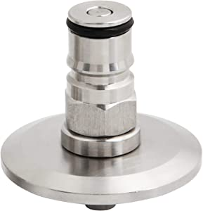 """1.5""""Tri Clamp to homebrew beer conry keg Ball Lock Post SS304 Sanitary Brewer Fitting 50.5mm OD ferrule SS conical fermenter pressure transfer (liquid) 19/32"""