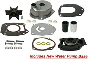 GLM Water Pump Impeller Kit Mercury 2 Stroke 3 & 4 Cyl 60 75 75 90 115 Optimax 1990 & Up 46-8M011379 46-43024A09 Read Product Description for Exact Fitment