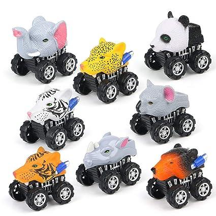 Amazon.com: Pull Back Animal juguetes de coches, vehículos ...