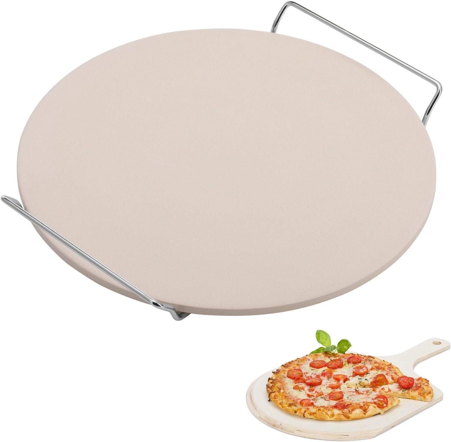 Westmark - Bandeja de Horno para Pizza, cerámica, Beige, Ø 33 cm