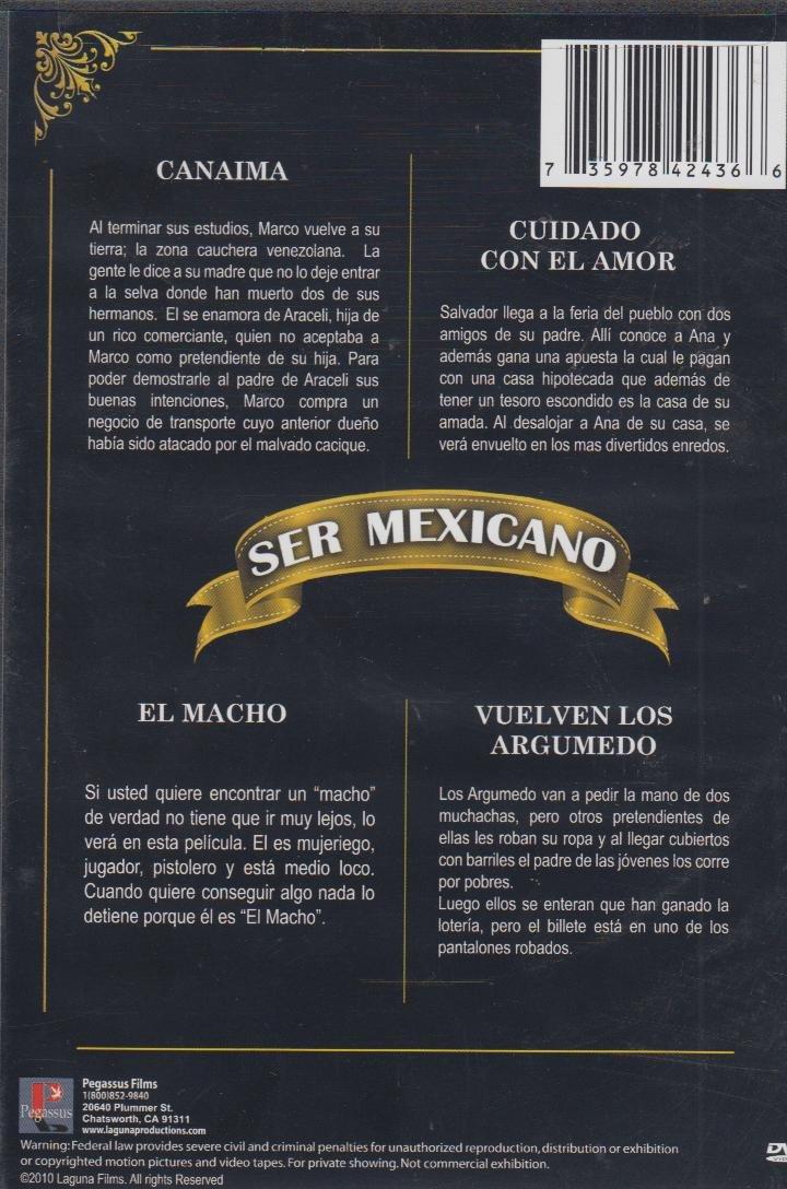Amazon.com: Ser Mexicano 4 Peliculas : Canaima/Cuidado Con El Amor/El Macho/Vuelven Los Argumedo: Movies & TV