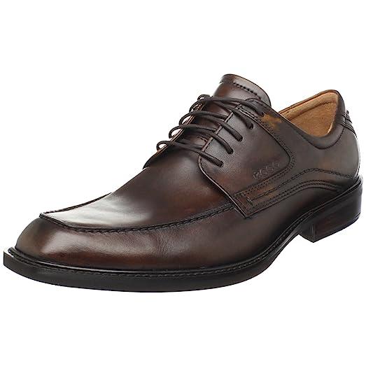 ECCO Men's Windsor Tie Oxford,Cocoa Brown Antic,39 EU/5-5.5