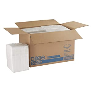 GEORGIA-PACIFIC Dixie 1/4-Fold 2-Ply Dinner Napkin (Previously Acclaim) by PRO (Georgia-Pacific), White, 36202, 500 Napkins Per Pack, 8 Packs Per Case