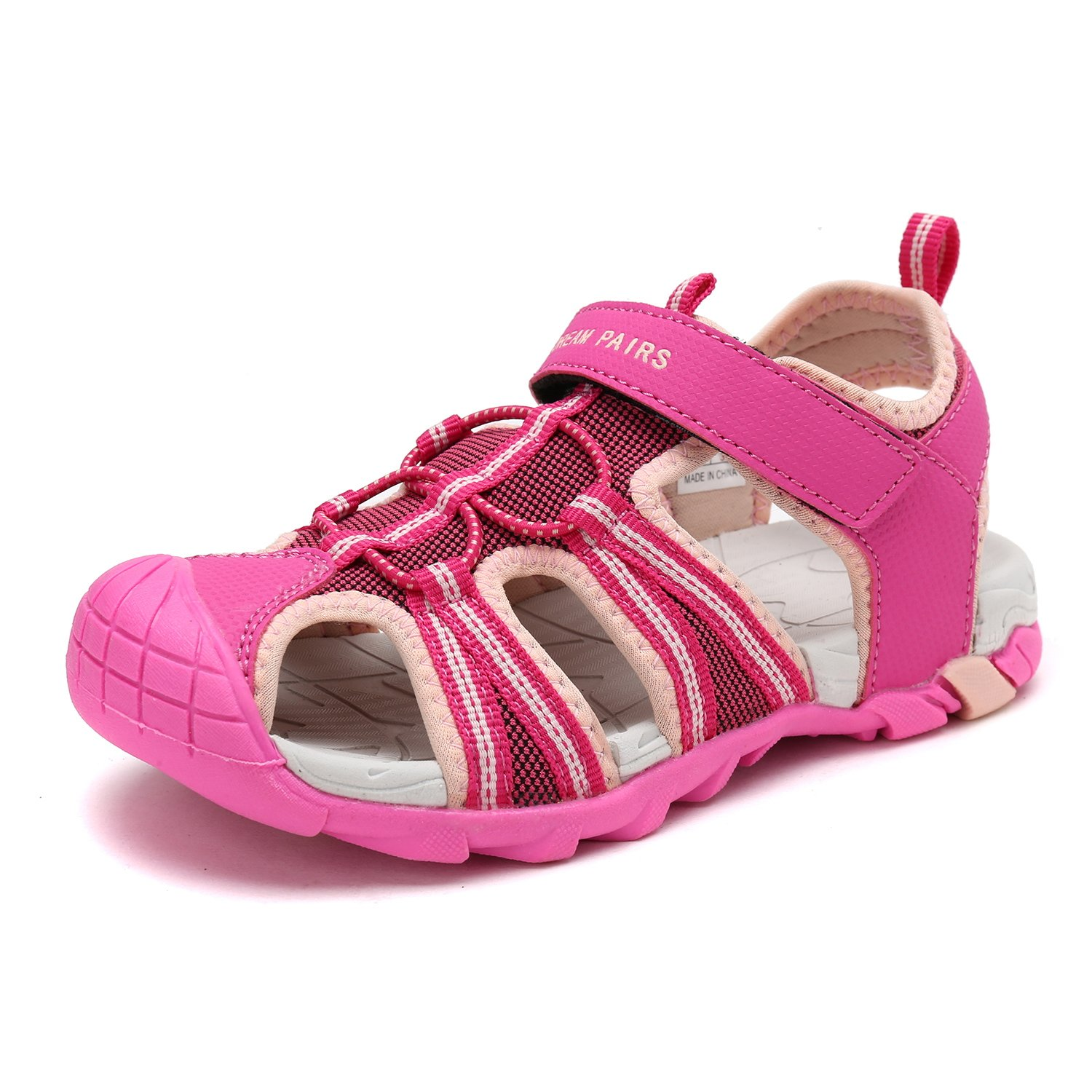 DREAM PAIRS Toddler 170813-K Fuchsia Shell Pink Outdoor Summer Sandals Size 10 M US Toddler by DREAM PAIRS