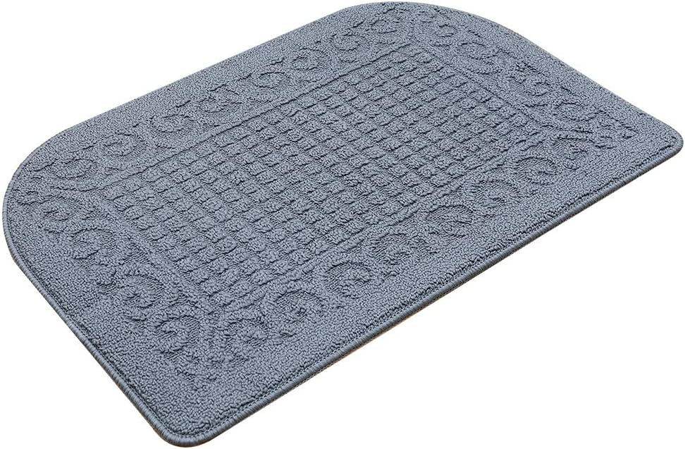 32X20 Inch Anti Fatigue Kitchen Rug Mats are Made of 100% Polypropylene Half Round Rug Cushion Specialized in Anti Slippery and Machine Washable (32x20in Grey 1pc)