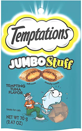 Temptations Jumbo Stuff Tempting Tuna Flavor Crunchy and Soft Cat Treats