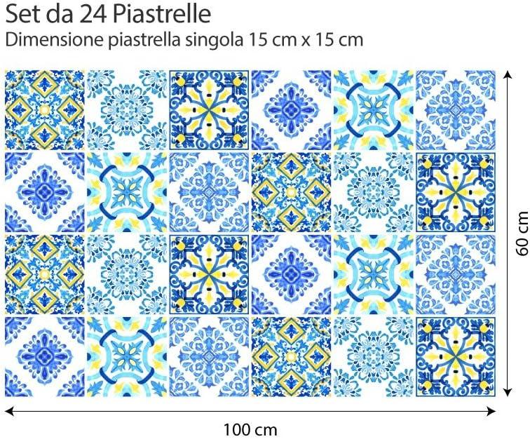 Collage de Azulejos Piezas Elvas Stickers Azulejos PS00134 54 Adhesivo Decorativo para Azulejos para ba/ño y Cocina Adhesivo para Azulejos 10x10 cm