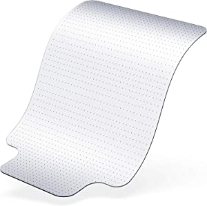 """ARTOFUL Office Chair Mat for Carpet with Low/Medium Pile,Transparent Chair Mat with Lip for Office Chair,36""""48"""""""