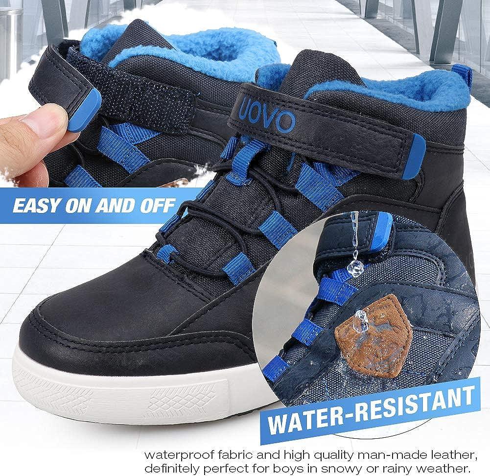 UOVO Winterschuhe Jungen Turnschuhe Unisex-Kinder Warm Gef/üttert Sneaker Outdoor Winterstiefel rutschfeste weiche Mid Stiefel M/ädche 28-39