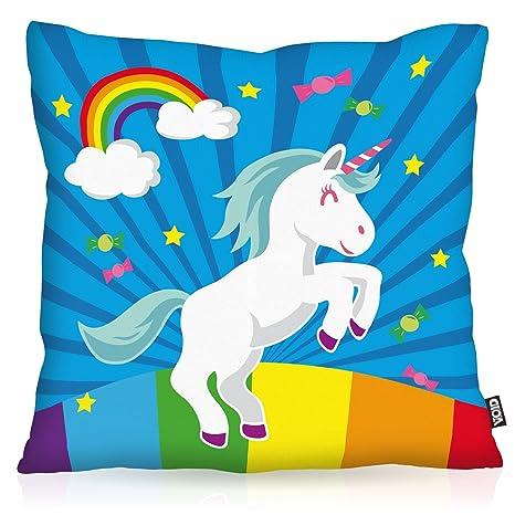 VOID Unicorn Candy Unicornio Cojín con Dibujo Funda de cojín ...