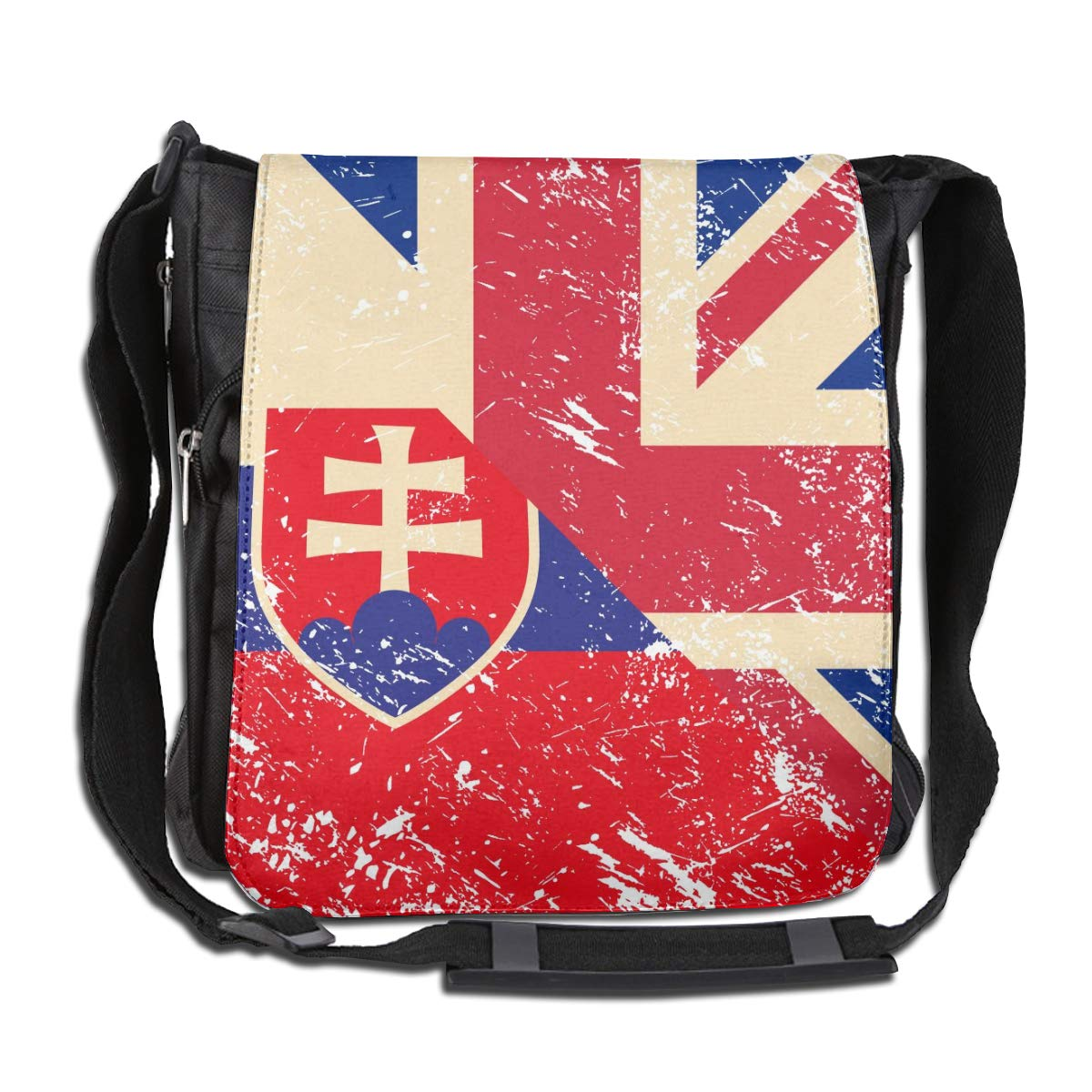 Unisex Casual Satchel Messenger Bags Birtish And Slovenia Retro Flag Crossbody Shoulder Bag School Bags For School//Work//Trips