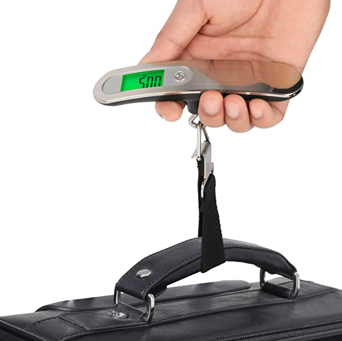 13c614671abd GPCT Digital Hanging Luggage Scale Strap 110LB/50KG W/ Accurate Sensor