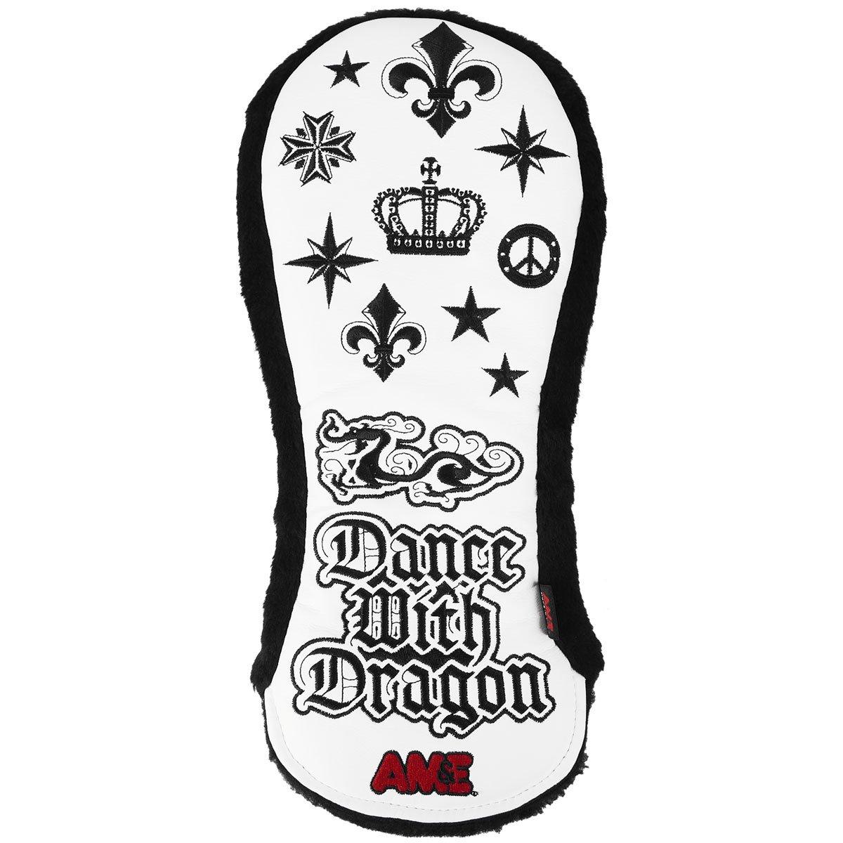 ダンスウィズドラゴン Dance With Dragon ヘッドカバー AM&Eコラボヘッドカバー DR用 B07CKKKTLZ  ホワイト 010