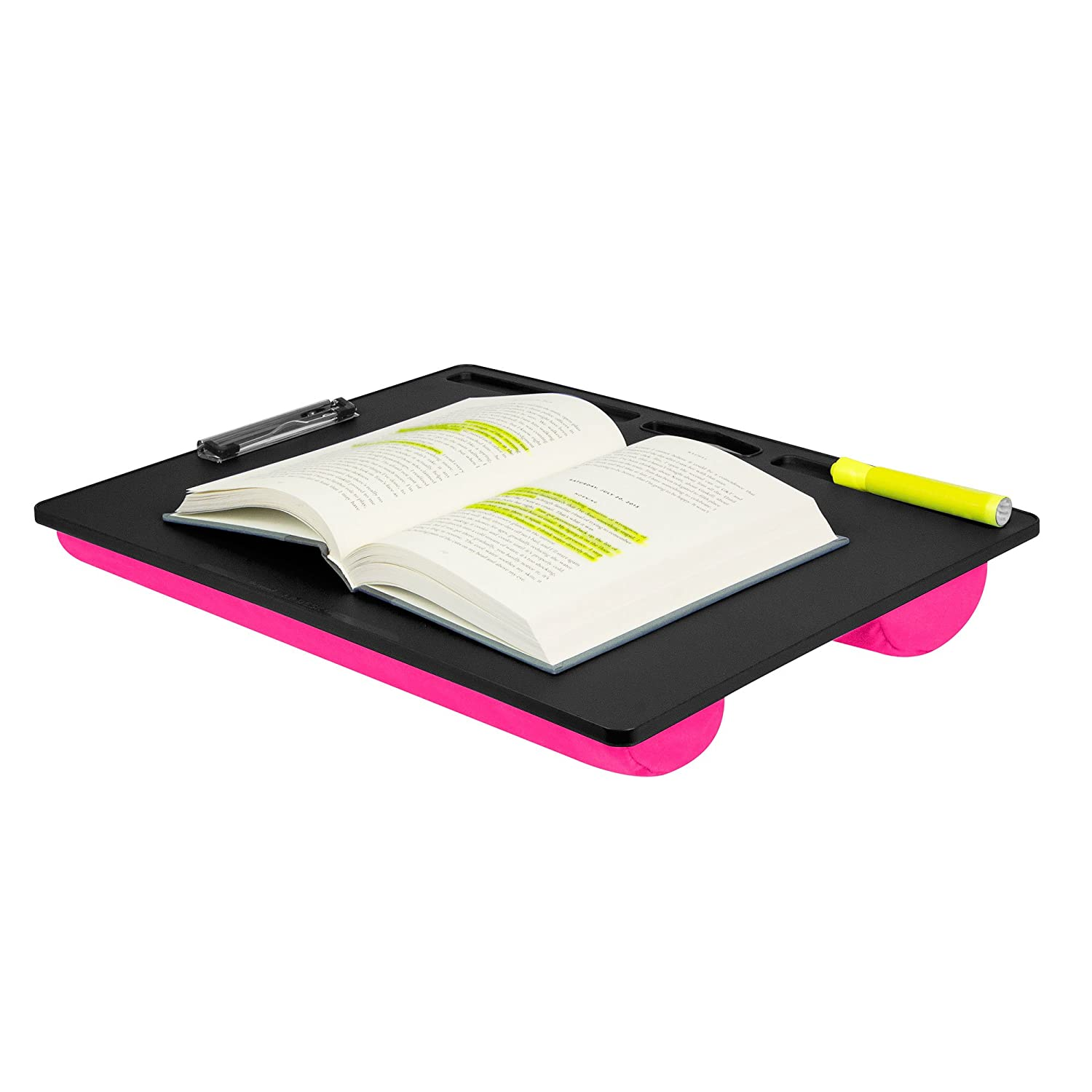 Amazon.com: LapGear XL Student LapDesk With Clip 45106 Pink: Computers U0026  Accessories