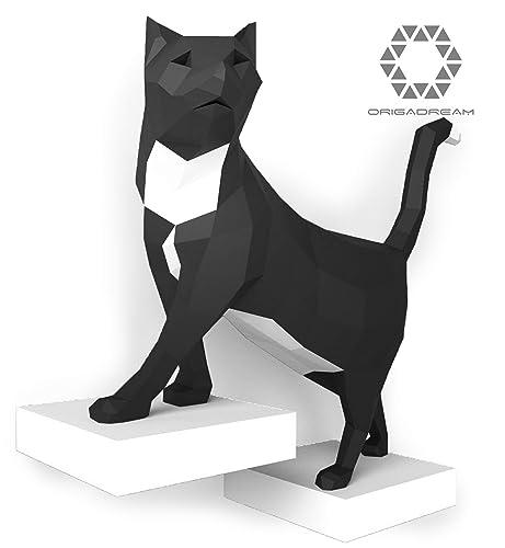 kit DIY PAPERCRAFT de Tom el gato pre-cortado NUEVO PUZZLE 3D MODERNO montar por