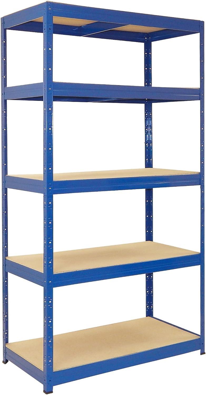 Estantería 200 A 200 x 100 x 50 cm azul Almacén, sótano, 200 kg: Amazon.es: Bricolaje y herramientas