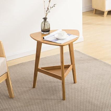 D&L Triangolo Bambù Impermeabile Tavolino da salotto,Moderna ...