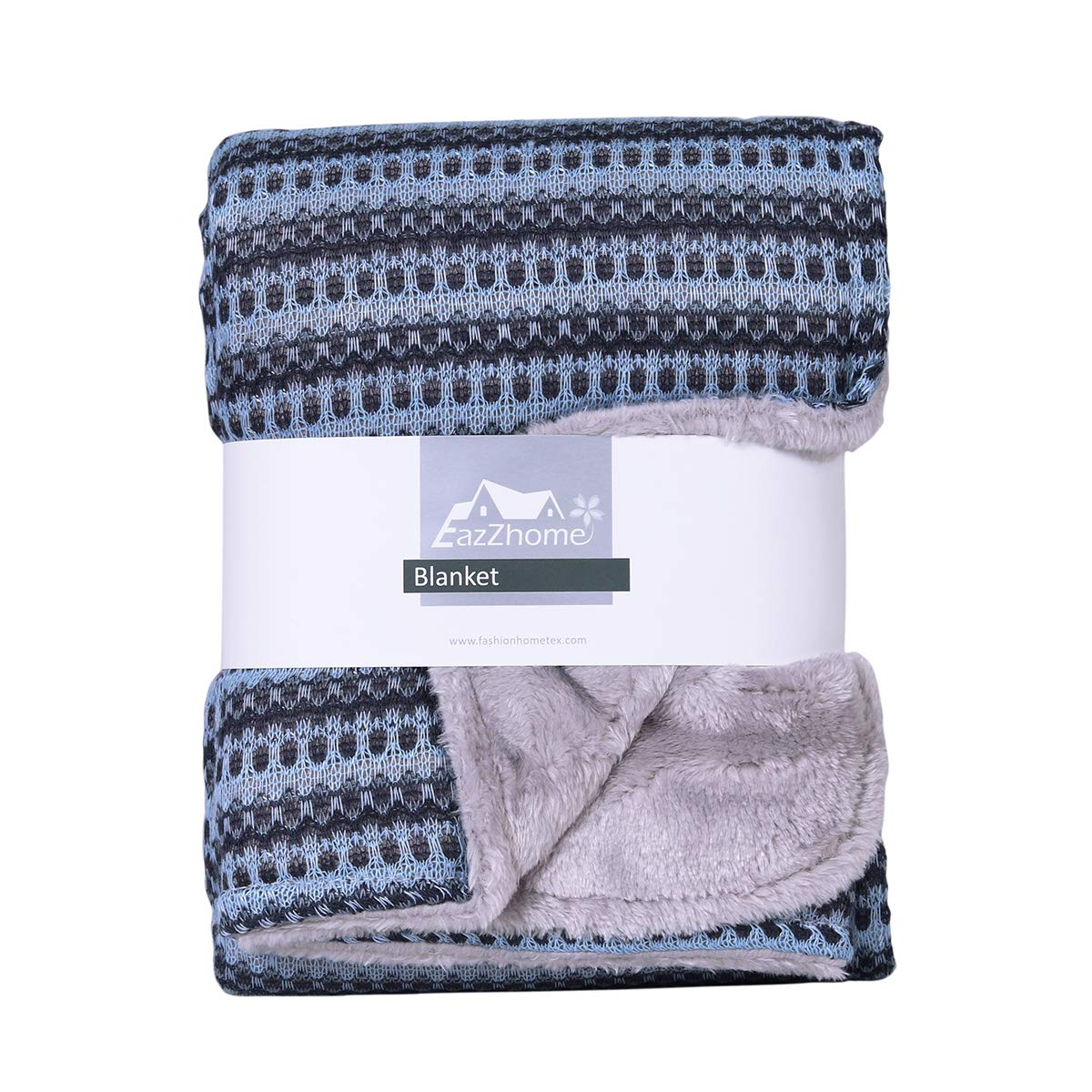 Eazzhome Reversible Sweater Coral Fleece (Lap) Blanket   Super Soft & Cozy Warm   Multipurpose Use and Portable   Suitable for Children and Adults   30'' x 40'' (Dark Blue)