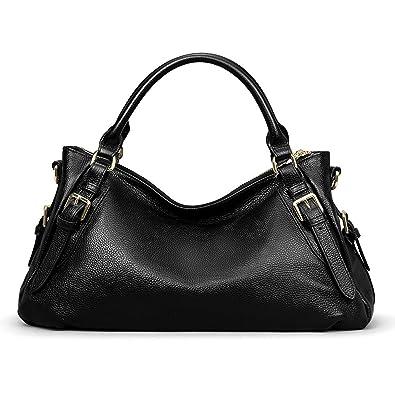 8d2fdc19bd Image Unavailable. Image not available for. Color  S-ZONE Women s Vintage Genuine  Leather Handbag Top-handle Purse Hobo Shoulder Bag