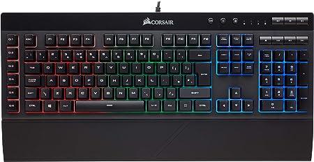Oferta amazon: Corsair K55 RGB - Teclado Gaming (retroiluminación multicolor RGB, QWERTY), negro [España]