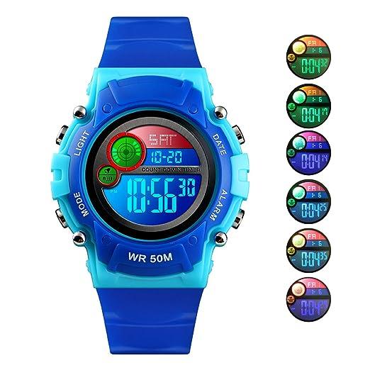 2a991dd97 Kid Digital Sport Watch Outdoor Waterproof Watch with Alarm for Child Boy  Girls Gift LED Kids